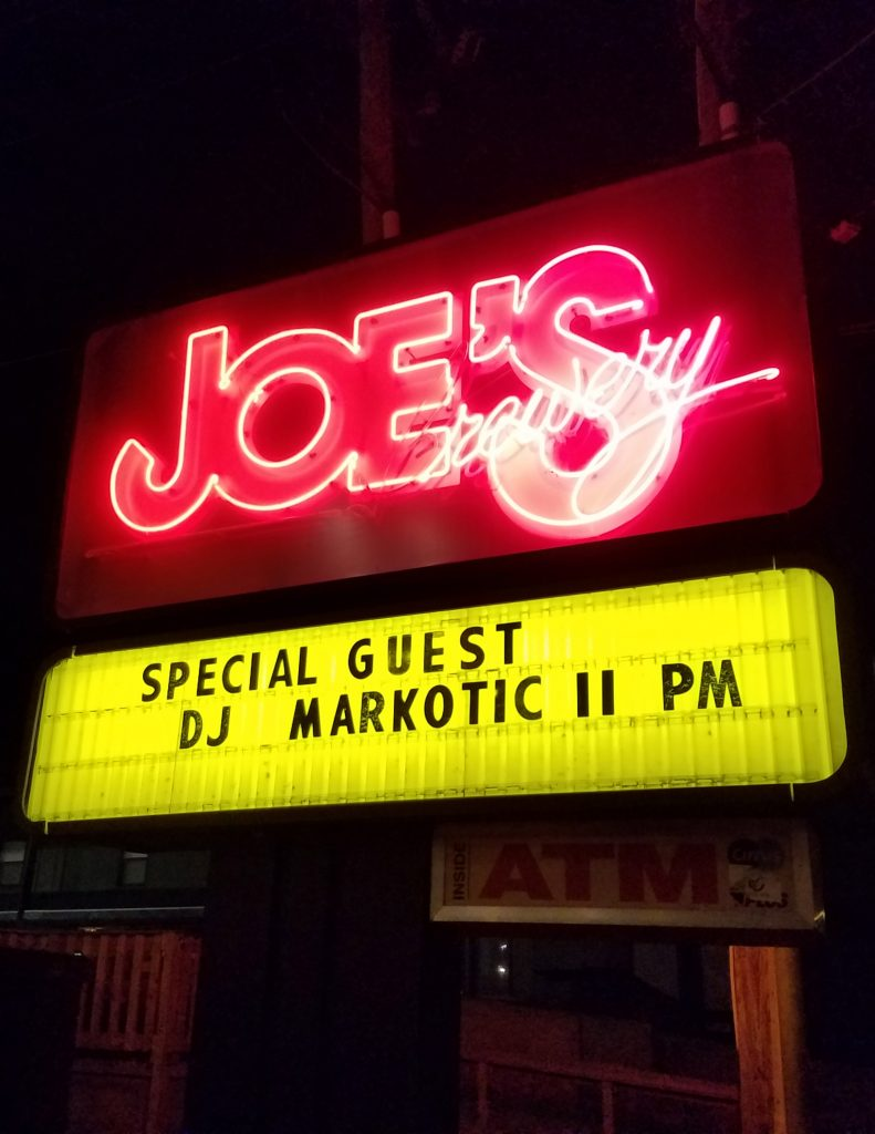 Picture of the Joes Brewery Sign in front of the bulding